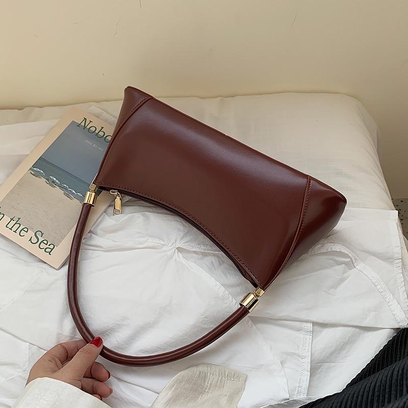 Solid Color PU Leather Handbags For Women 2020 Shoulder Bag Female Small Elegant Totes Lady Handbag Luxury Hand Bag