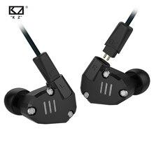 AK KZ ZS6 2DD+2BA Hybrid In Ear Earphone HIFI DJ Monito Running Sport Earphones Earplug Headset