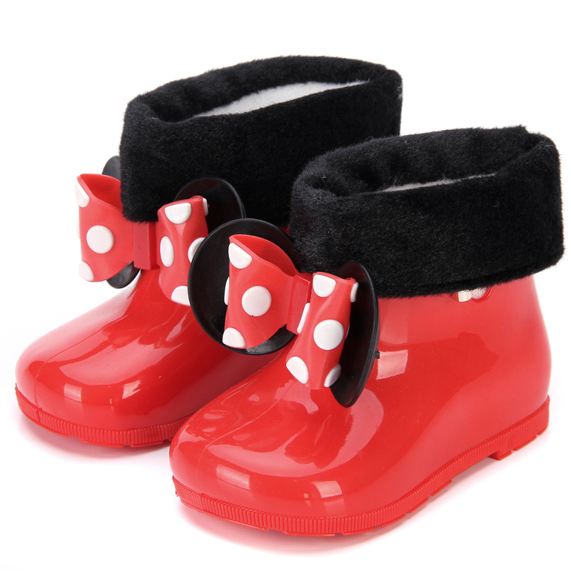 Mini Melissa 2 Color Rain Boots 2020 New Anti Skid Jelly Rain Boots Boys Melissa Girls Mickey Shoes Jelly Baby Water Shoes|Sandals| |  - title=