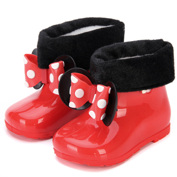 Mini Melissa 2 Color Rain Boots 2020 New Anti-Skid Jelly Rain Boots Boys Melissa Girls Mickey Shoes Jelly Baby Water Shoes