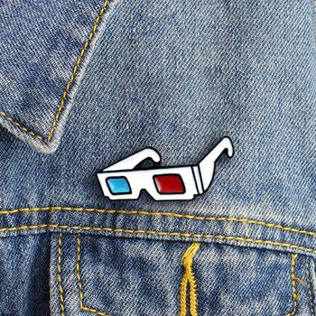 Metal Fashion Tendy All-match Bag Jacket Decoration 3D Sunglasses Badge Collar Lapel Brooch Pin Clothes Jewelry Bag Decor image