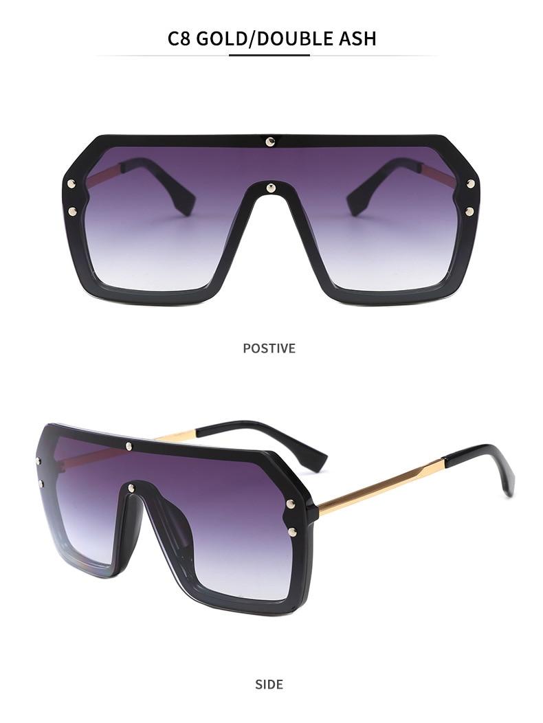 Luxury Brand Women's Sunglasses 2021 Trend One-Piece Lens Rimless Sunglass Female Designer Retro Sun Glasses For Women Gradient (14)
