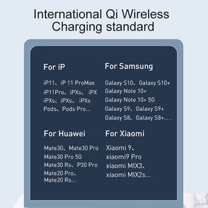 Image 5 - Baseus 2 in 1 Qi Wireless Charger For iPhone 11 Pro X XS XR Samsung S10 S9 Phone for Airpods Pro 15W Fast Wireless Charging Pad