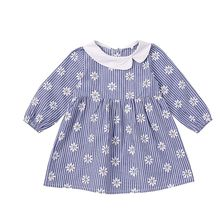 Toddler Kids Baby Girls Dress Floral Printed Long Sleeve Ruffle Princess Party Tulle Cute Lovely Dresses 2019 Lovely 1-5Y#E baby girls cute floral printed mini dresses spring autumn long sleeve princess lovely dresses kids costume children clothes