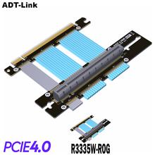Pcグラフィックスカードのpcie 4.0 16x延長ケーブル柔軟なフルスピード4.0 gpuライザーケーブル垂直リンク90 ° のためのをasus rogシャーシ