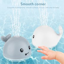 Electric Induction Water Jet Whale Shape Electric Toy With Light And Music For Baby Exquisite Bath Toy