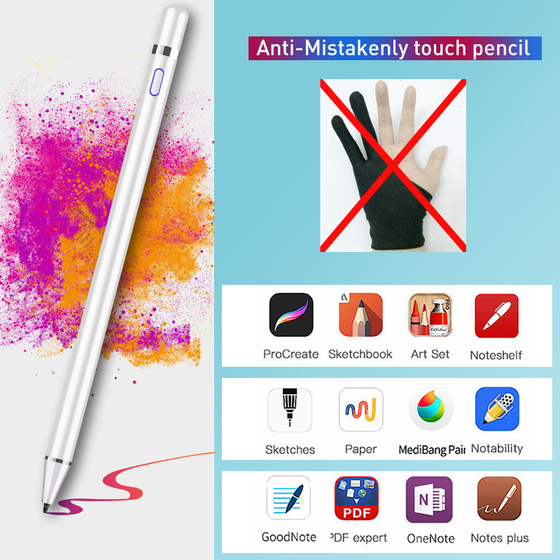 For Apple Pencil 1 2 Touch Pen Stylus For IPad Pro 11 12.9 9.7 2018 Air 3 10.5 2019 Mini 5  Ipad 2019 10.2  No Delay Drawing Pen
