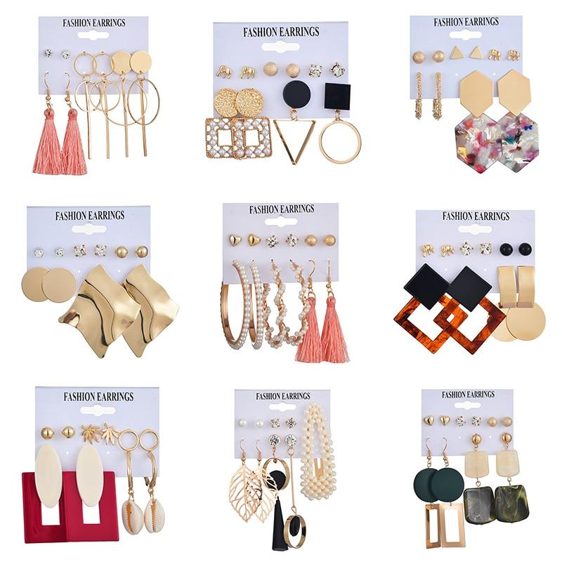 2020 Trend Set Simulation Pearl Long Earrings Female White Round Pearl Wedding Pendant Earrings Fashion Korean Jewelry Earrings