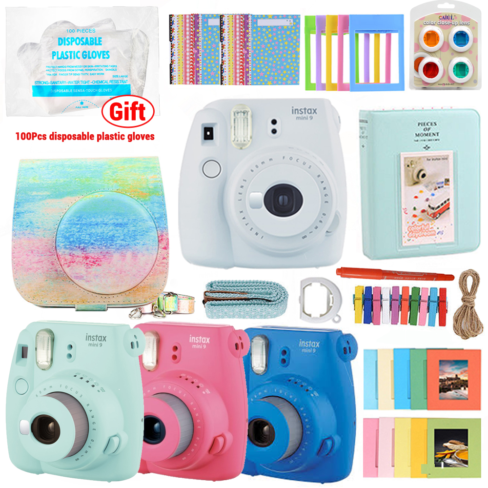 For Fujifilm Instax Mini 9 Accessories 9 in 1 Camera Bundles Rainbow Mist Gift