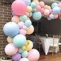 GIHOO 5 шт. 18/24 дюймов Макарон латексных шаров большого размера с закругленным носком розового и фиолетового цветов синий гелиевые шары для сва...