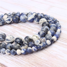 Wholesale New Blue Natural Stone Beads Round Beads Loose Beads For Making Diy Bracelet Necklace 4/6/8/10/12MM