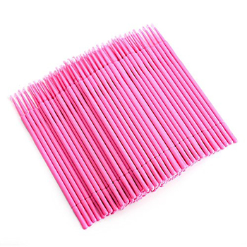 Disposable 100pcs Micro Brush Applicators For Makeup Personal Care Micro Swabs For Eyelash Extension