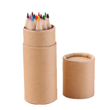 12 colors Nature wood color pencil for drawing colored pencils pack Stationery Office accessories School supplies
