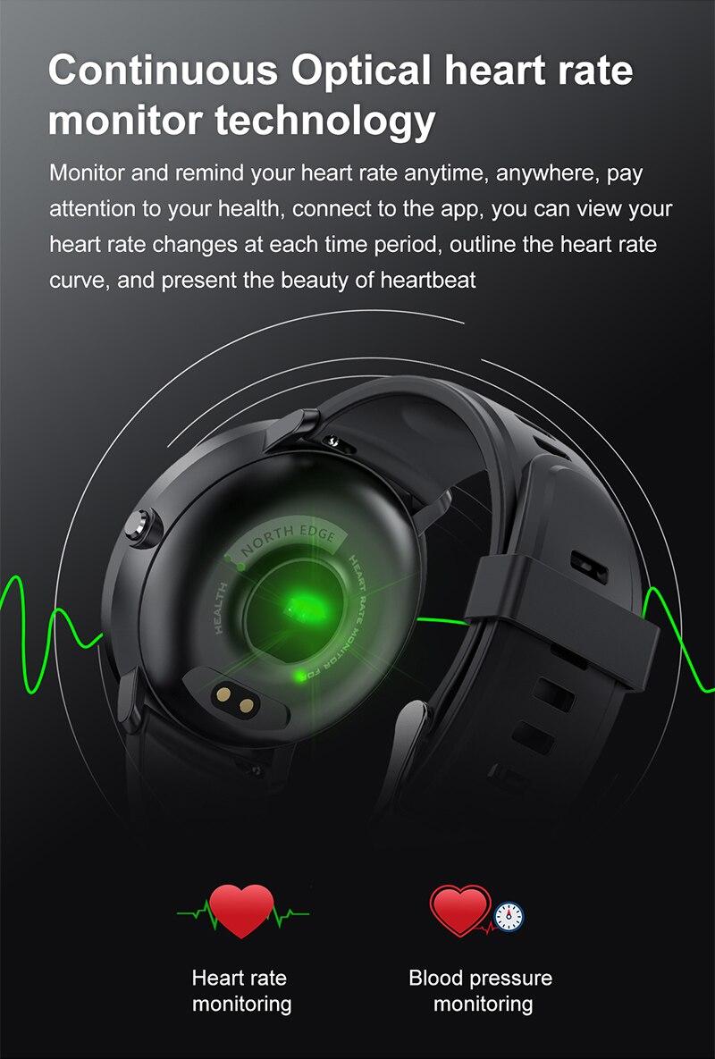 Montre de sport connectée NORTH EDGE contrôle de fréquence cardiaque