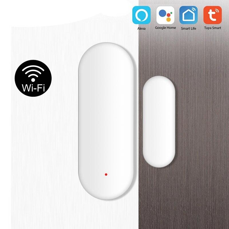 OPQ Tuya Smart WiFi Door Sensor Door Open / Closed Detectors Compatible with Alexa Google Home IFTTT Tuya APP Sensor & Detector     - title=