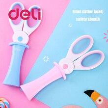 Scissors Cute Round-Head Ripple Stationery Deli Small Mini Cartoon Children Korean 2pcs