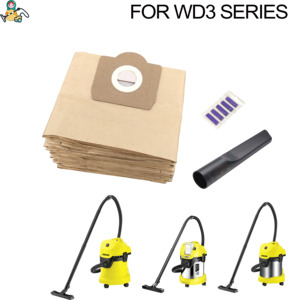 Image 1 - Dust Bag for Karcher WD3 bags WD3.500P SE 4001 A2204 6.959 130 WD5.800  WD3.800 M WD 3.200 dust bags