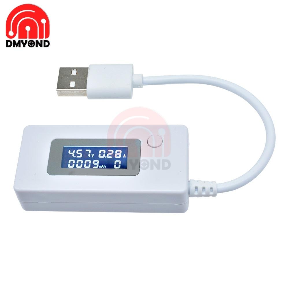 USB-тестер с ЖК-дисплеем и подсветкой для измерения напряжения и емкости