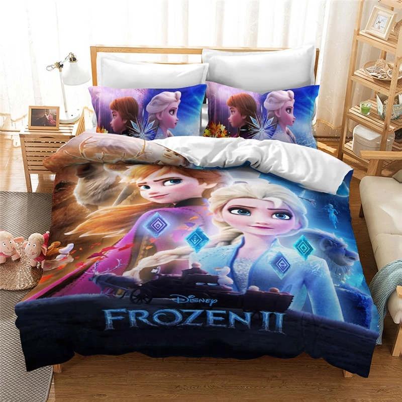 Beautiful Frozen Elsa Anna Quilt Duvet Covers For Girls Bedroom Decor Twin Size Bedding Set Queen King Coverlet Single Bed Linen Bedding Sets Aliexpress