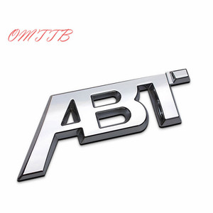 3D Chrome ABT Cool Sticker car rear emblem badge sticker For Volkswagen vw Golf 5 6 7 MK6 MK7 Polo Plated decal sticker