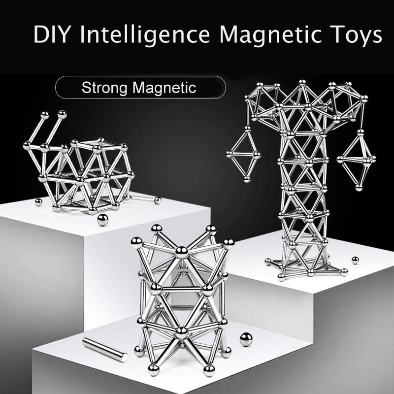 Children Adults Magnetic Sticks Beads Balls DIY Building Blocks Stress Relief Educational Kids Construction Brain Training Toy G
