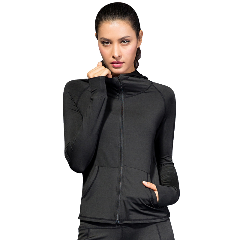 2019 New Arrive Women Jacket Hoodie Sportswear Windbreaker Gym Workout Clothes Zipper Breathable Fitness Running Yoga Sweatshirt