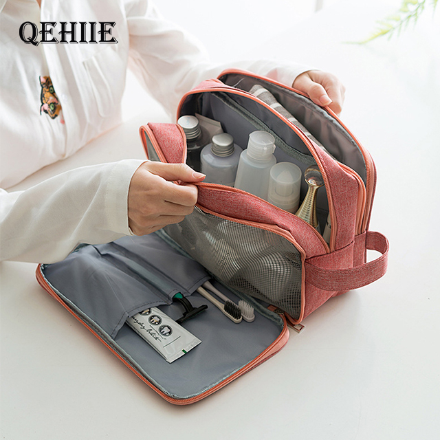 Travel Wash Cosmetic Bag Large Capacity Men's Woman Professional Dry And Wet Separation Organizer Cosmetic Case Toiletry Handbag