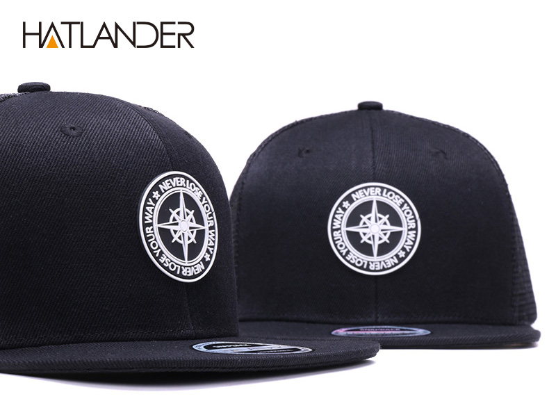 H07141deff5f947ddaadc3828809ead4ap - HATLANDER Original Baseball caps for men women black snapback cap high quality cool hip hop cap 6panels bone mesh truck cap hat