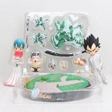 Anime figura Dragon Ball Z Vegeta y Bulma Bolma el día de la boda de PVC figura de acción Juguetes muñeca modelo DBZ Goku Juguetes regalo de colección