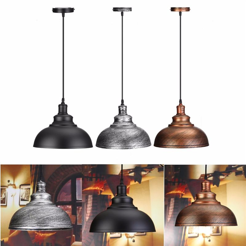 Vintage Retro Industrial Hanging Loft Pendant LightS E27 Dining Restaurant Room Lamp