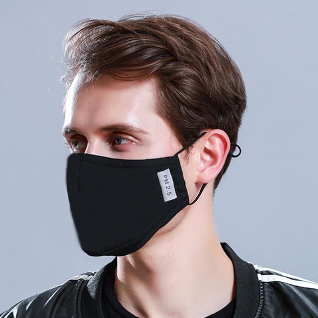 Tcare 1Pcs Fashion Cotton PM2.5 Face Mouth Mask + 12Pcs  Activated carbon filter for Men Women 3