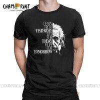 Intelligence мужские футболки Альберт Эйнштейн Live for Today Leisure 100% хлопковая футболка с круглым вырезом футболки больших размеров одежда