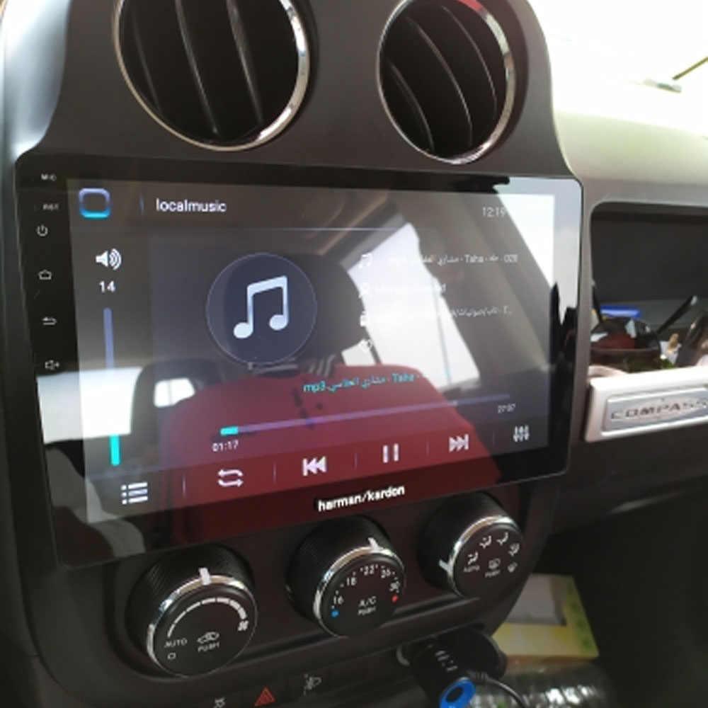 Android 10,1 para JEEP compass patriota 2010, 2012, 2013 - 2015 de 2016 Multimedia estéreo reproductor de DVD del coche de navegación GPS Radio