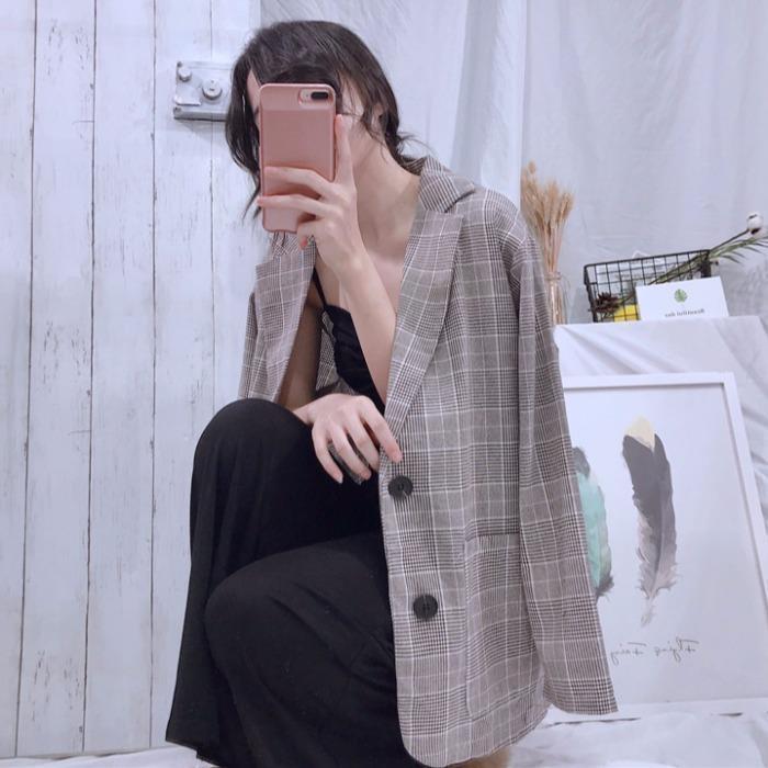 Высококачественный винтажный двубортный клетчатый женский Блейзер, куртки с карманами, женские костюмы в стиле ретро, пальто, блейзеры, вер...