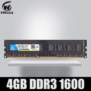 Image 1 - ОЗУ DIMM DDR3 VEINEDA, 4 ГБ, 8 ГБ, 1600 МГц, совместимая с 1333/1066, PC3 12800, 240 контактов, для любых ПК с AMD и Intel