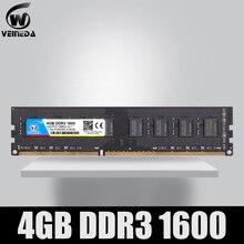 VEINEDA Memoria Ram DDR3 para ordenador de escritorio, 4 gb, 8 gb, 1600Mhz, Compatible con 1333, 1066, ddr 3, 4 gb, PC3 12800, 240 pines