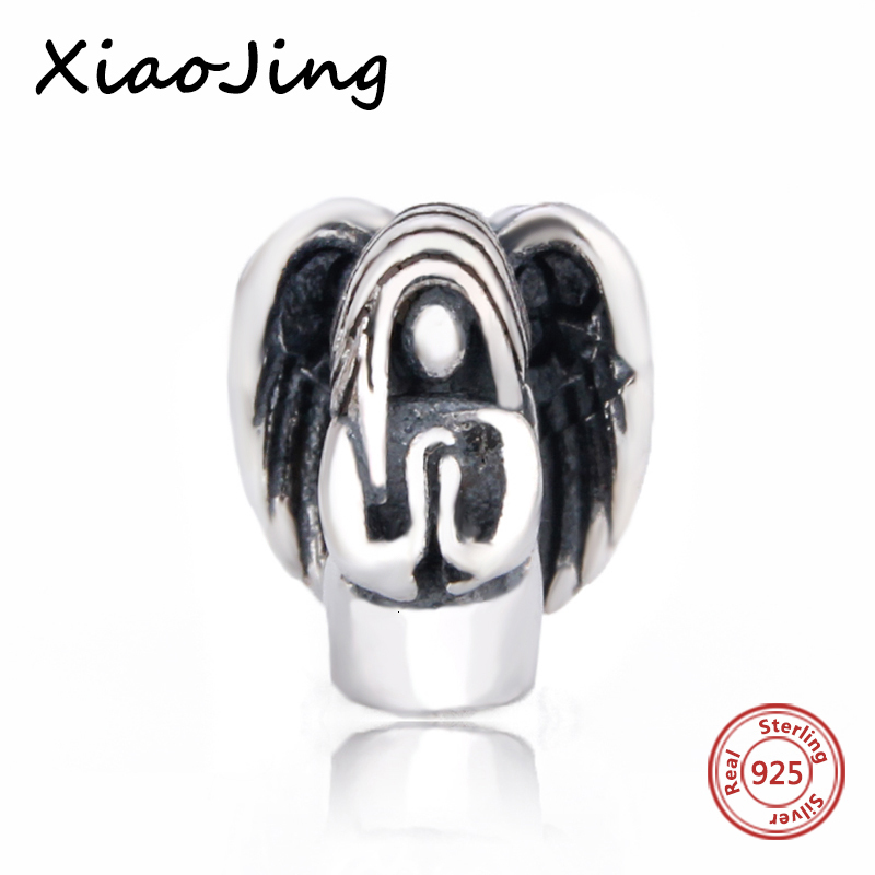 Fit Authentic Pandora Bracelet Silver 925 Original goddess angel Charms Beads Pendant Antique Jewelry Gifts