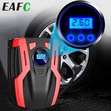 12V 휴대용 자동차 공기 압축기 펌프 디지털 타이어 팽창기 150 PSI 자동 공기 펌프 자동차 오토바이 4 LED 라이트 타이어 펌프