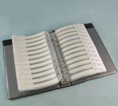 Новый 0805 SMD конденсатор книга образцов 105valuesx25шт = 2625 шт 0.5PF ~ 10 мкФ набор различных конденсаторов