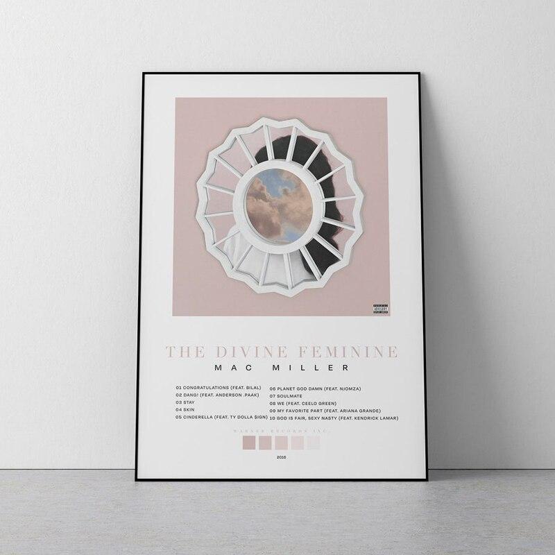 Альбомный плакат с изображением бога женщины MAC MILLER, музыкальная настенная Картина на холсте, принты, музыкальный подарок, гостиная, спальня...