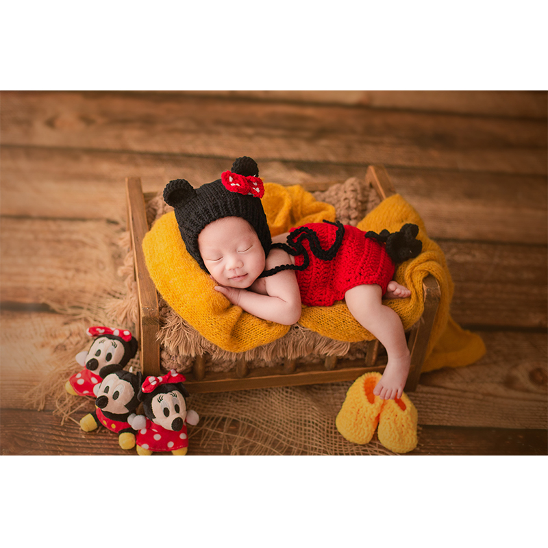 ChristmasNewborn Baby Boy Girl Cartoon Hat+Rompers Photography Props Infant Fotografia Accessories Baby Photo Shoot Outfits Prop