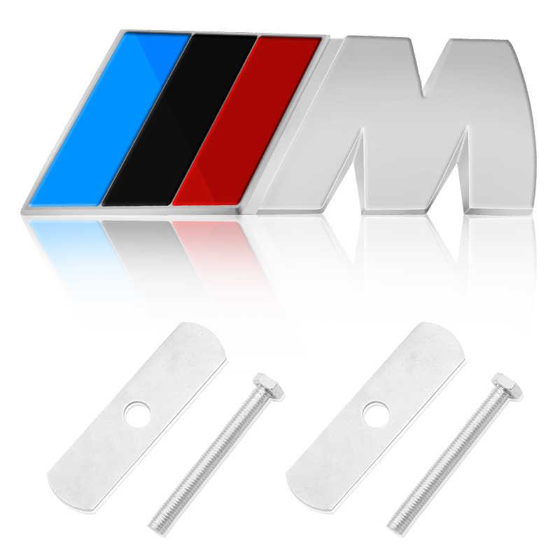 1 Pcs Emblem Depan Grille Lencana Grill Stiker Pelabelan untuk BMW X1 X3 X5 E46 E90 E60 BMW E36 f20 E87 E92 E30 E91 Mobil Styling