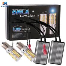1Set 1156 P21W BA15S PY21W BAU15S 3156 7440 W21W 3030 NO Error LED Canbus Car DRL Turn Signal Light 12V DC Switchback Dual Color