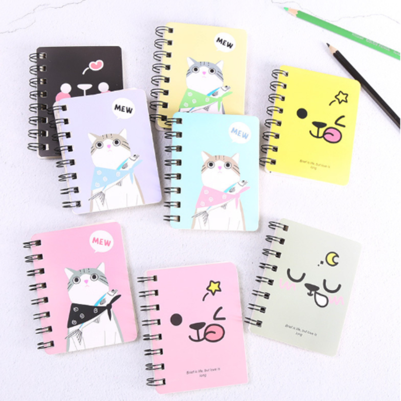Cute Cartoon Coil Creative Student Small Notebook Small Fresh Portable Mini Notepad Stationery Small Book Student Gift