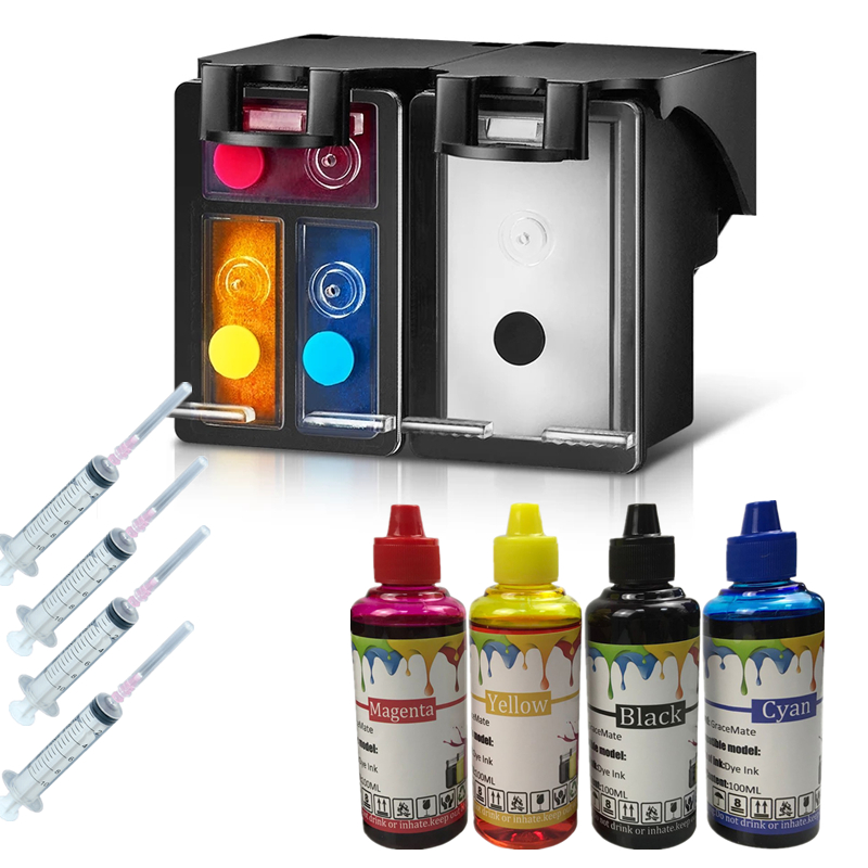 65 65XL Refillable Ink Cartridge With 400ML Ink For HP Deskjet 3720 3755 3722 3730 3758 Envy 5010 5020 5030 5032 5034 5052 5055