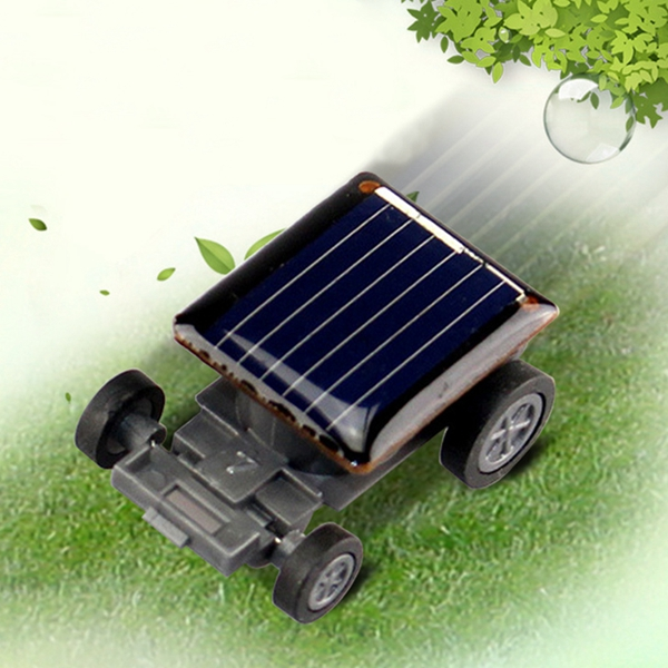 High Quality Smallest Mini Car Solar Power Toy Car Racer Educational Gadget Children Kid's Toys Hot Selling Solar Power Toy blac