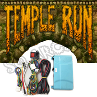 Temple Run game PCB motherboard with wires cable and power switch socket for arcade Simulated running video game
