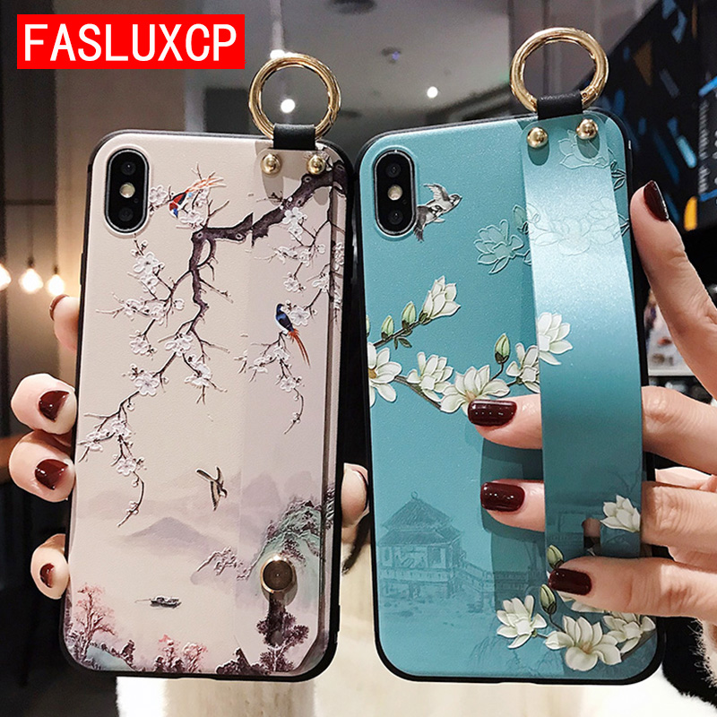 Rose Wristband Phone Case for Etui iPhone 11 Pro Soft TPU Flower Phone Holder Cover for iPhone 7 8 SE 6 Plus X XS XR XSMax Funda 1