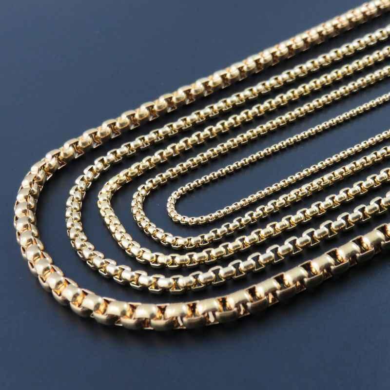 Mannen Ketting 2019 Rvs Hip Hop Chain Sieraden Geschenken Voor Mannen Mannelijke Goud Vrouwen Accessoires Neckless Sieraden Kettingen