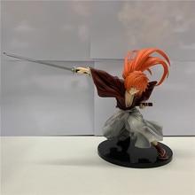 Anime 18CM Rurouni Kenshin Himura Kenshin Swordsman Romantic Story PVC Anime Action Figures Model Gift